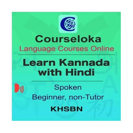 Kannada with Hindi, Spoken, Beginner, Non-Tutor