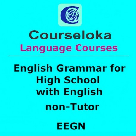 CourseLoka, English Grammar for High School with English, non-Tutor