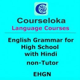 CourseLoka, English Grammar for High School with Hindi, non-Tutor